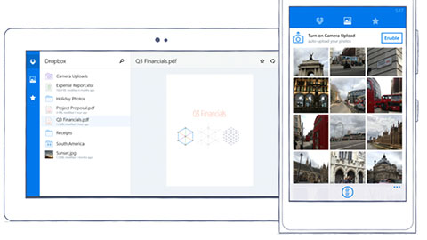 Dropbox sl�ppt f�r Windows Phone