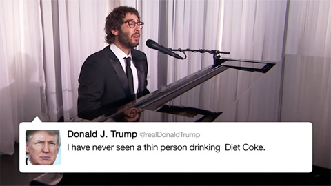 Josh Groban sjunger Donald Trumps tweets