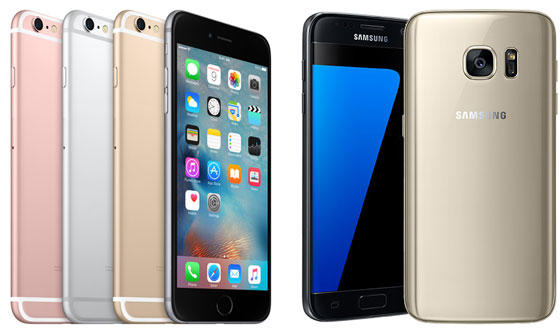 Iphone 6s och Galaxy S7